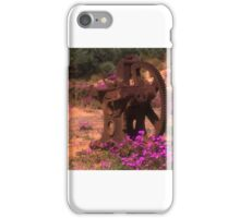 Wild flowers and a rusty  'thingo' iPhone Case/Skin