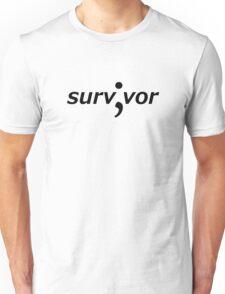 Survivor (Semicolon) Unisex T-Shirt
