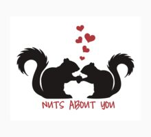 Nuts about you, squirrels in love T-Shirt