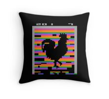 Chinese Zodiac Rooster Design Retro 8-Bit Computer Game Throw Pillow