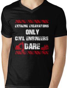 Funny Sayings Civil Engineers Mens V-Neck T-Shirt