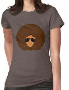 Big Afro Shades She Rocks Womens Fitted T-Shirt