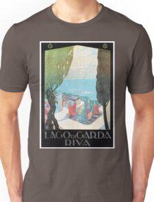 Vintage Riva Lake Garda Italian travel ad Unisex T-Shirt