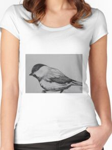 Chickadee Women's Fitted Scoop T-Shirt