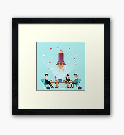 Business Project Startup Concept Design Framed Print
