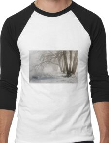 Etched By Snow - Sawhill Carvings Men's Baseball ¾ T-Shirt