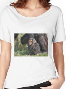 Baby Common Chimpanzee, Pan troglodytes Women's Relaxed Fit T-Shirt
