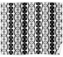 Dividing Cells Black and White Pattern Poster