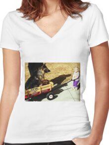 ~freedom tastes like~ Women's Fitted V-Neck T-Shirt