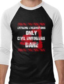 Grunge Civil Engineers Men's Baseball ¾ T-Shirt