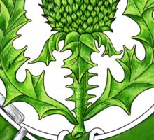 Belted Thistle Badge of Scotland Sticker