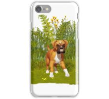 Boxer Puppy, tote, pillow iPhone Case/Skin