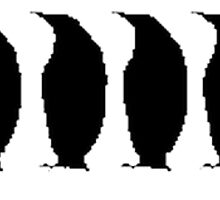 Penguins Silhouette by kwg2200