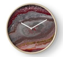 Epoch (fluid art on canvas) Clock