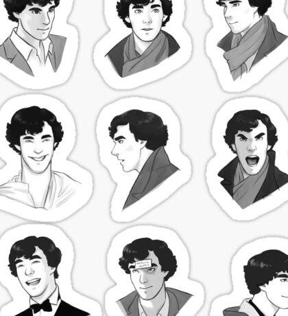 Sherlock Multi Stickers BBC Sticker