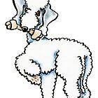 Bedlington Terrier Rosie by offleashart