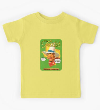 Texas TX United States of ALF Travel Decal Kids Tee