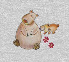 Cute bears mom and cub One Piece - Short Sleeve
