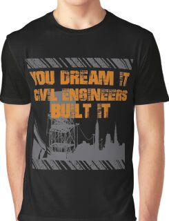 Grunge Typography Civil Engineers Graphic T-Shirt