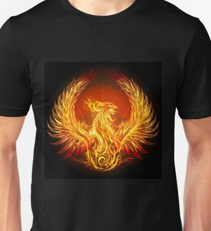 burning phoenix   Unisex T-Shirt