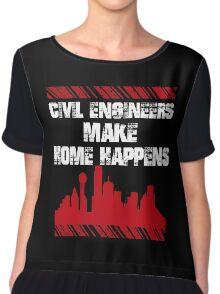 Sayings Civil Engineers Chiffon Top