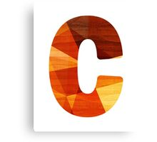 Letter C - Wood Initial Canvas Print