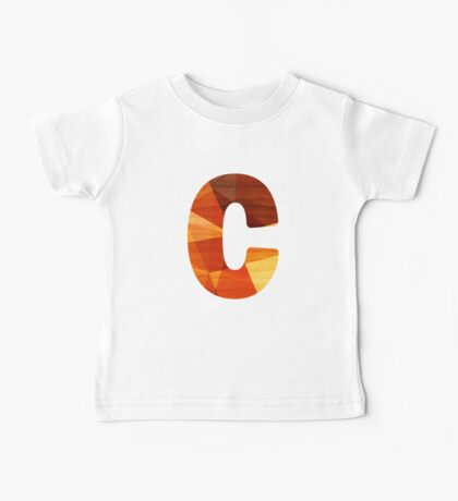 Letter C - Wood Initial Baby Tee