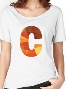 Letter C - Wood Initial Women's Relaxed Fit T-Shirt