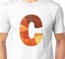 Letter C - Wood Initial Unisex T-Shirt