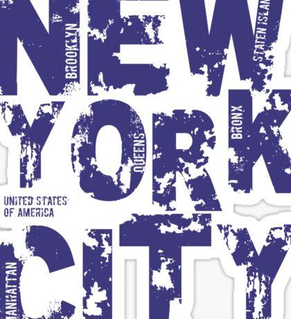 New York City Text Typography States America Sticker