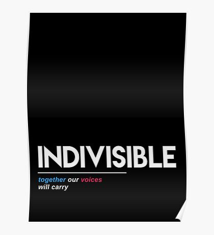 Indivisible T-Shirt: Together Our Voices Will Carry Poster