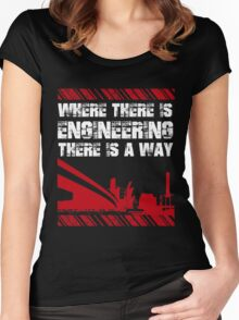 Grunge Style Engineer Women's Fitted Scoop T-Shirt