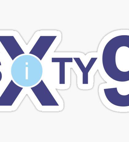 Sixty Nine 69 Typography Text Number Sticker