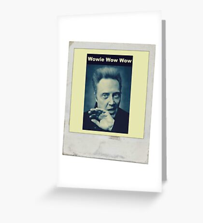 Christopher Walken Greeting Card