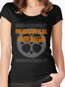 Grunge Style Mechanical Engineer Women's Fitted Scoop T-Shirt