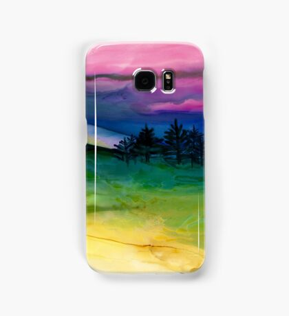 """Evergreens"" - Unique, Original Artist's Painting! Samsung Galaxy Case/Skin"