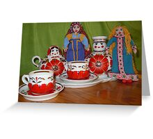 Russian Doll Tea Time Greeting Card