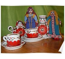 Russian Doll Tea Time Poster