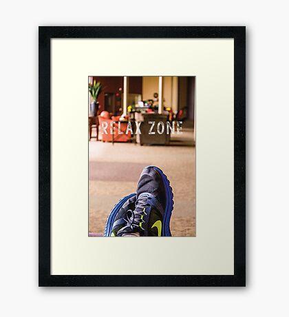 Relax Zone Framed Print