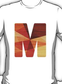Letter M - Faux Bois (wood) Initial T-Shirt