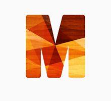 Letter M - Faux Bois (wood) Initial Unisex T-Shirt