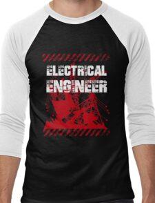 Grunge Electrical Engineer Men's Baseball ¾ T-Shirt