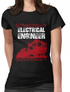 Grunge Style Electrical Engineer Womens Fitted T-Shirt