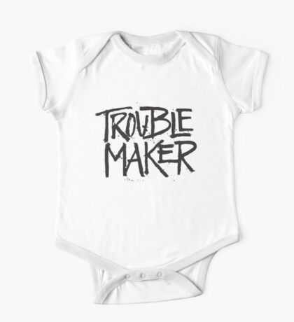 Trouble Maker - Cute Kids Funny Saying Boys Girls Design One Piece - Short Sleeve