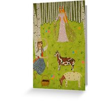The Wood Maiden Greeting Card