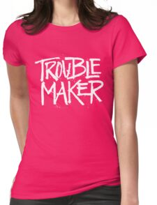 Trouble Maker - Cute Kids Funny Saying Boys Girls Design  Womens Fitted T-Shirt