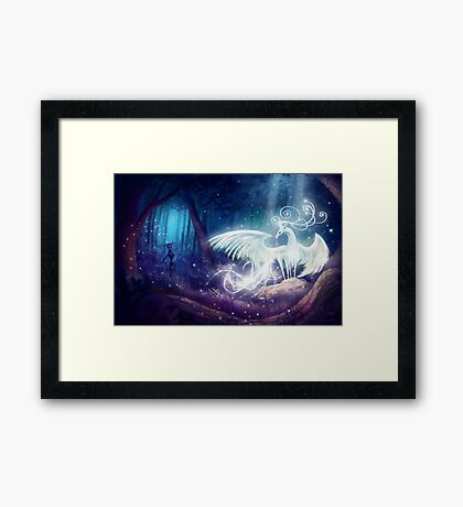 The mystical stag Framed Print