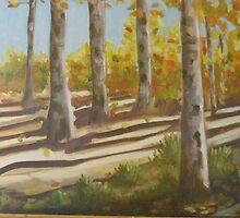 Aspens in Autumn by Lynn Ahern Mitchell