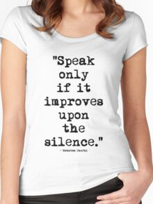Mahatma Gandhi Silence Women's Fitted Scoop T-Shirt