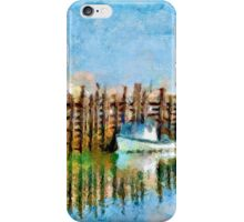 Margaretsville Wharf - watercolour iPhone Case/Skin